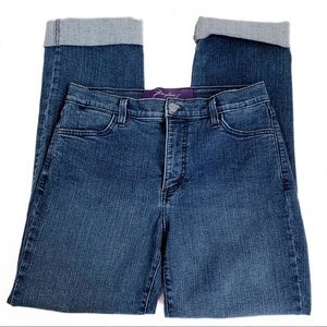 NYDJ | straight cropped jeans with cuff medium 8